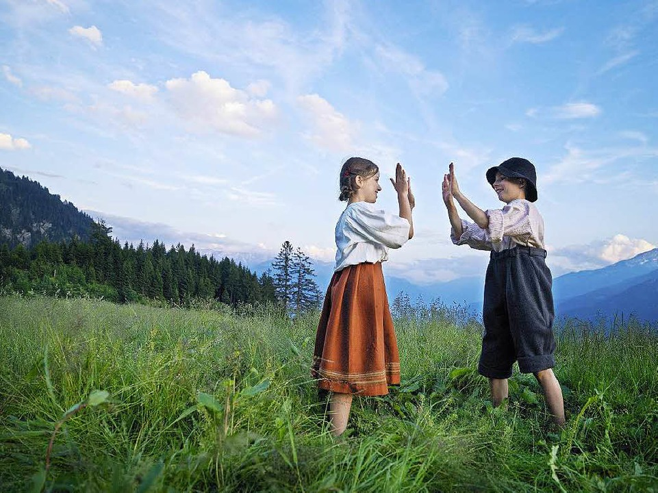 Ihre Welt sind die Berge: Heidi und Geissenpeter  | Foto: Touristik Graubünden