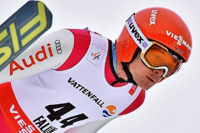 Fabian Rießle wieder im Gelben Trikot des Weltcup-Spitzenreiters