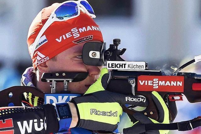 Benedikt Doll beim Weltcup in Antholz auf Rang 23