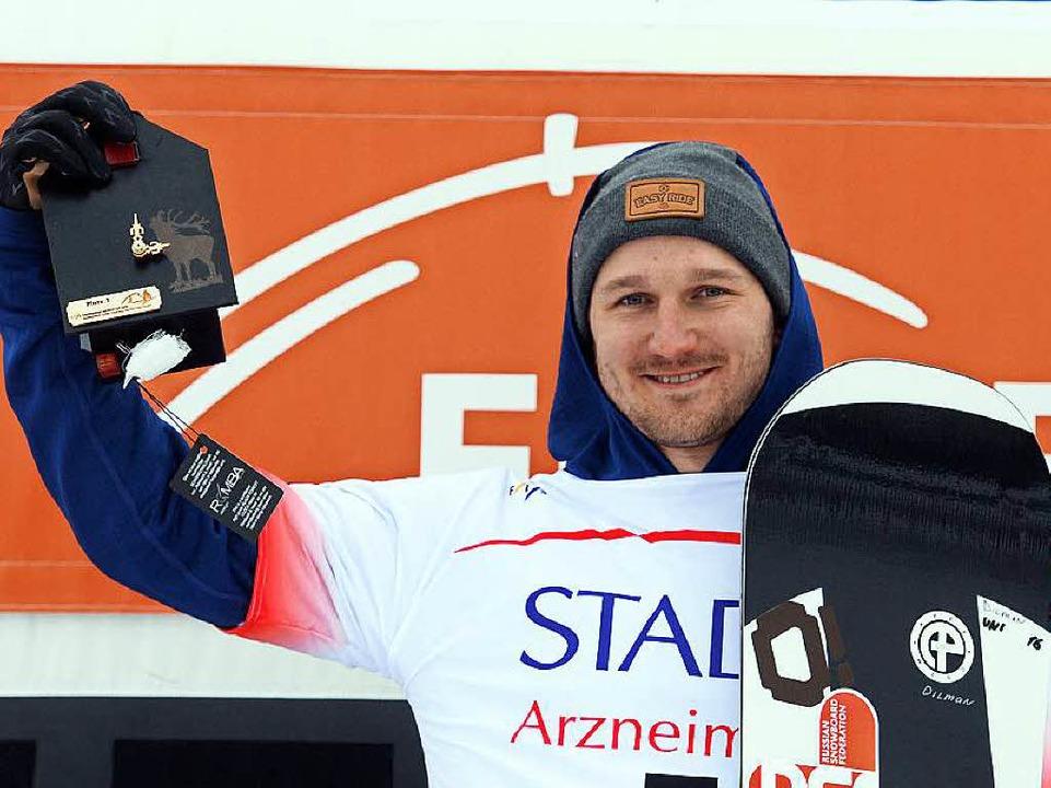 Nikolay Olyunin aus Russland siegte im Weltcup der Männer  | Foto: dpa