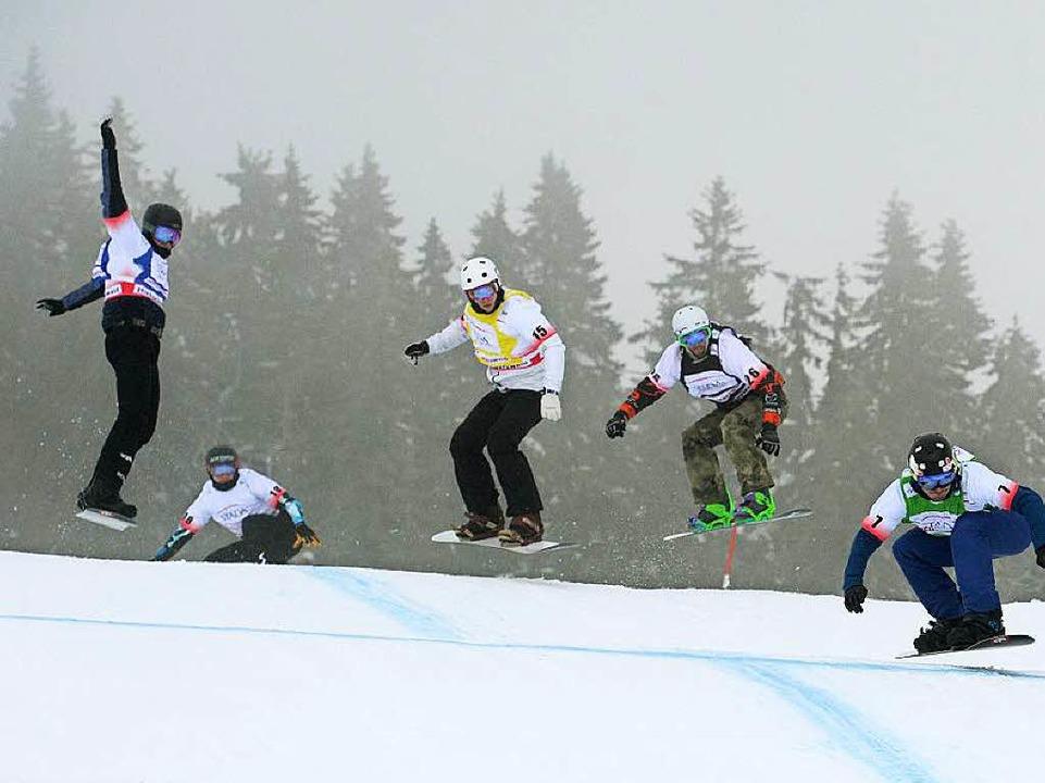 Hopp hopp! Der Halbfinal-Lauf  | Foto: dpa
