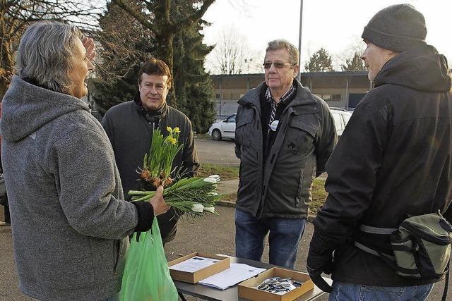 Steggegner machen Wahlkampf in Herten