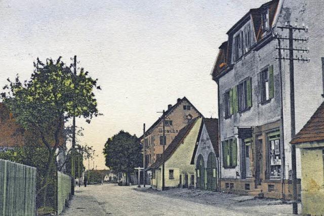 Die Sundgauallee hieß einst Lehener Straße - und war eine beschauliche Dorfstraße