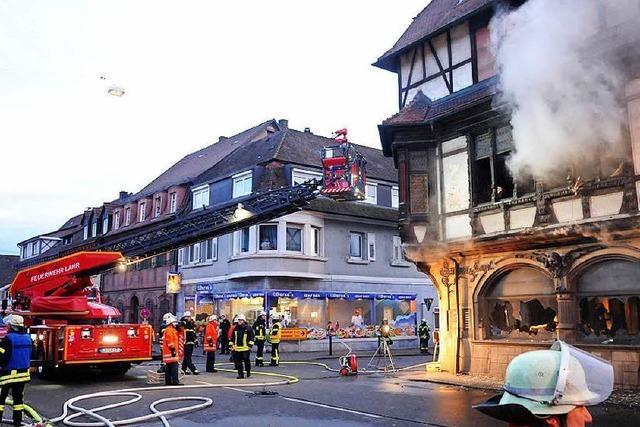 Brand beschädigt historisches Gebäude in Kippenheim schwer