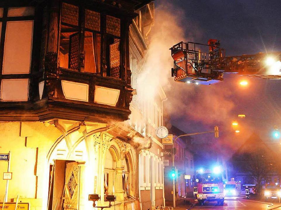 Beim Brand entstand Schaden im sechsstelligen Bereich.  | Foto: WOLFGANG KUENSTLE