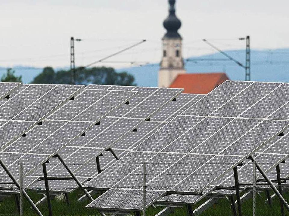 ...wie es mit der Solarenergie schon geschehen ist.    Foto: dpa