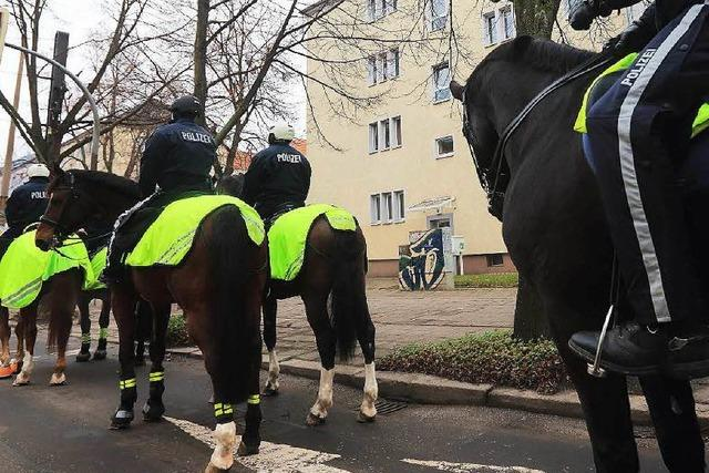 Polizei kündigt den Einsatz einer Reiterstaffel an