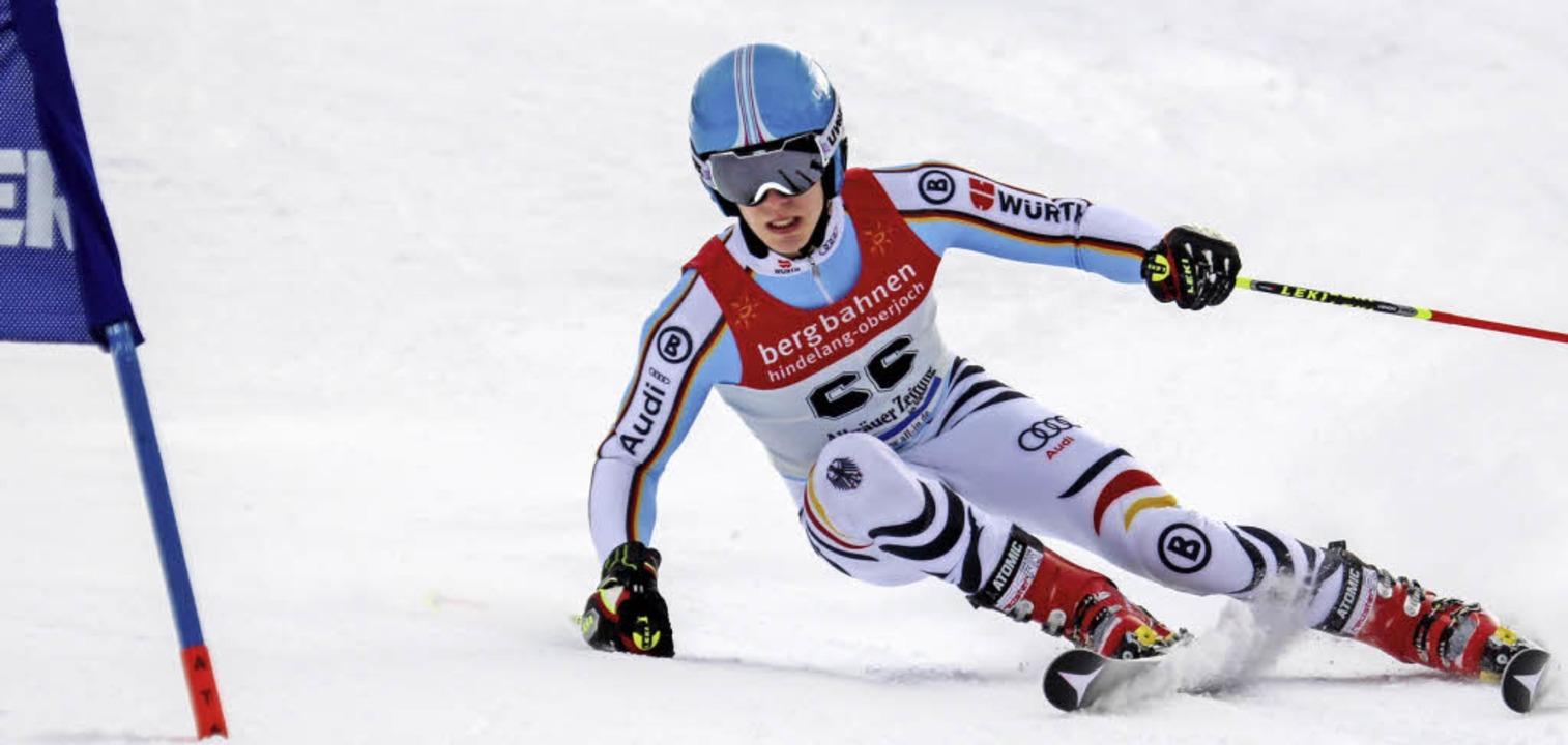 Sion Demattio gelang beim FIS-Rennen am Oberjoch ein guter zweiter Durchgang.   | Foto: Martin Siegmund