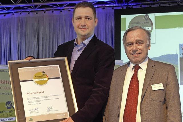 Auszeichnung für den Kaiserstuhlpfad