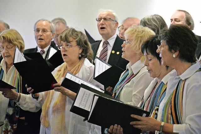 Als Teil eines Projektchores nimmt der Liederkranz am Chorfest teil