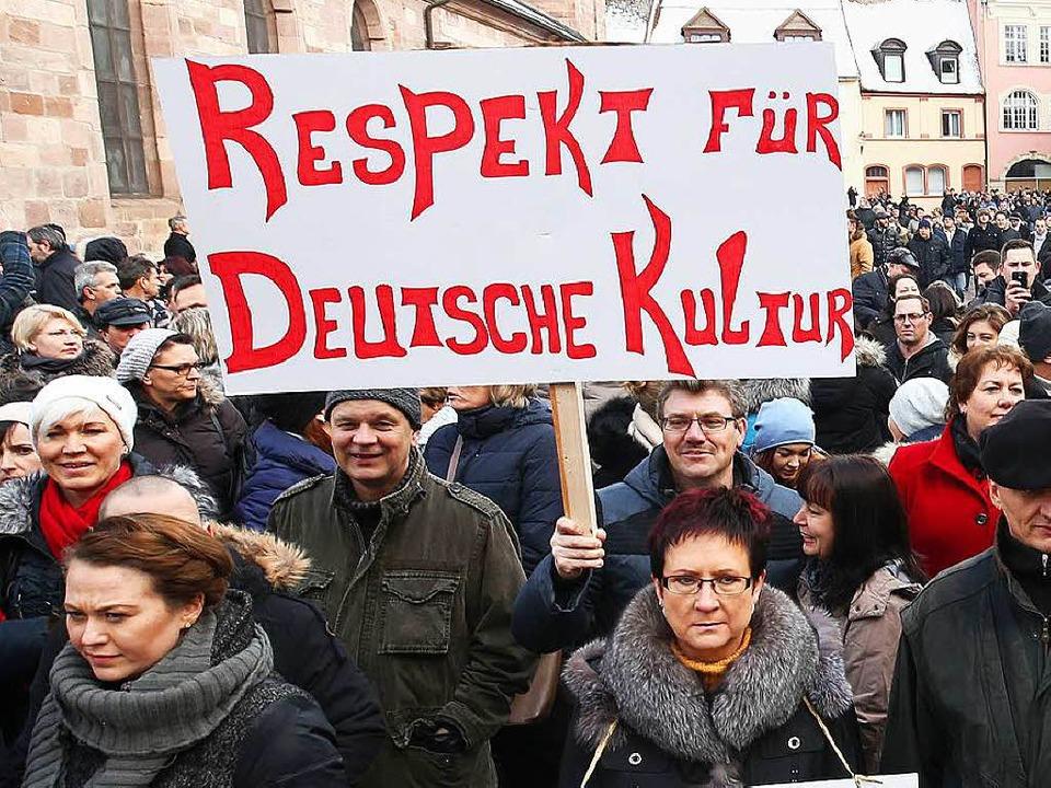 Auch in Villingen-Schwenningen demonst...vergangenen Sonntag Russlanddeutsche.   | Foto: dpa
