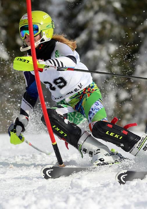 Chiara Horning gewann souverän den Slalom der Altersklasse U 16.  | Foto: Dieter Horning
