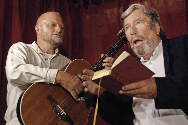 Bernd Kolarik und Frank-Roland Pohl präsentieren Goethe-Gedichte in Freiburg
