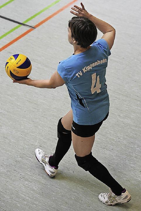 <BZ-FotoAnlauf>Volleyball: </BZ-FotoAn...am Sprunggelenk und fehlt ihrem Team.   | Foto:  B. Schaller