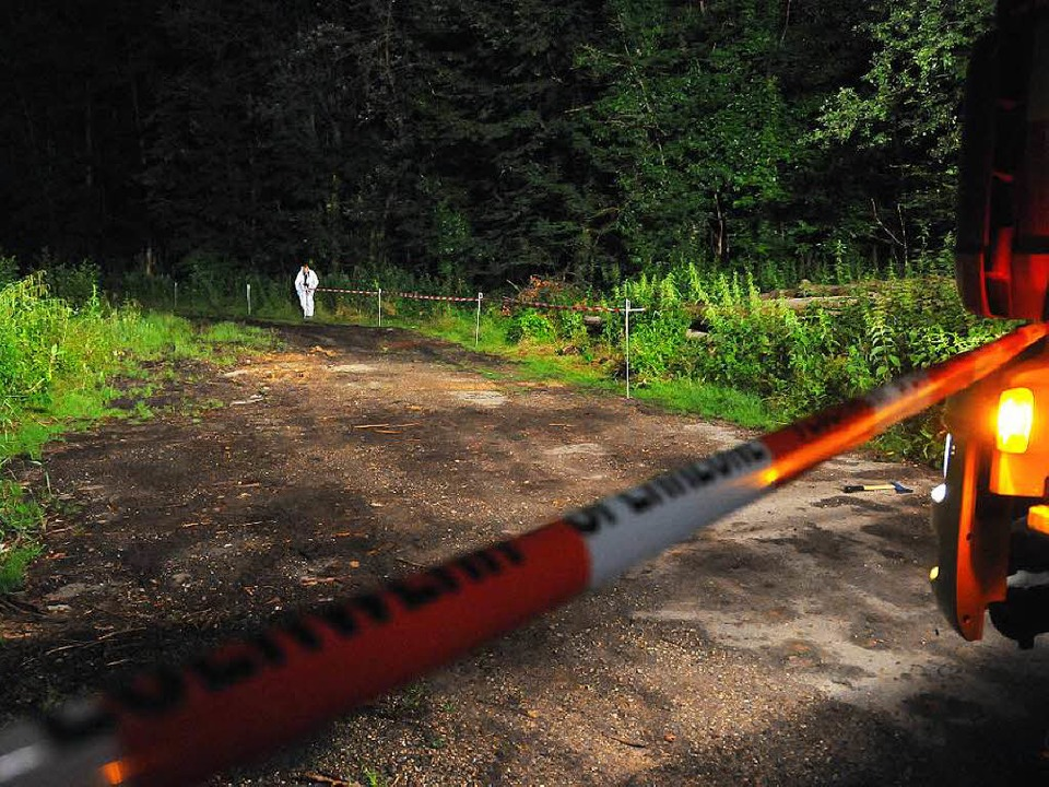 Juni 2015: Der Fundort des verkohlten Leichnams im Offenburger Stadtwald.  | Foto: Helmut Seller