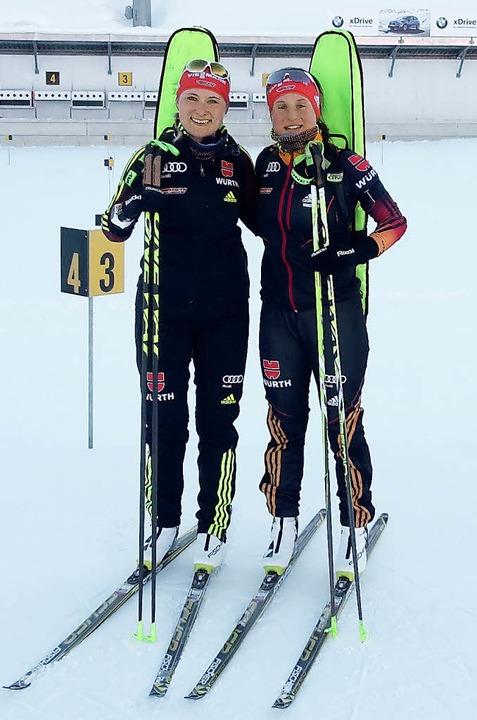 Für die  Biathletinnen Janina Hettich ...nioren-Weltmeisterschaft in Rumänien.   | Foto: UMS