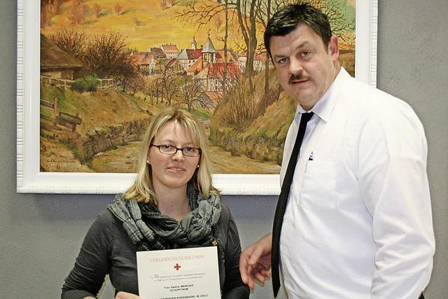 Anerkennung für Blutspender