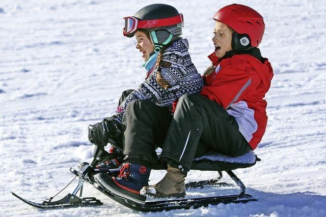 Spaß im Schnee – und eine Schrecksekunde