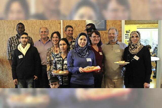 Begegnung bei arabischem Gebäck