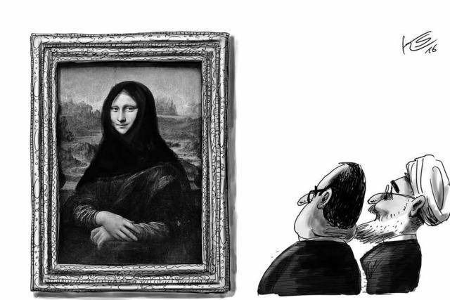 Falls Ruhani den Louvre besucht...