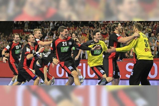 Handballer stürmen ins EM-Halbfinale