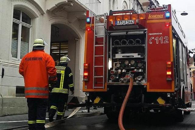 Brand im Gebäude der VHS in Lahr