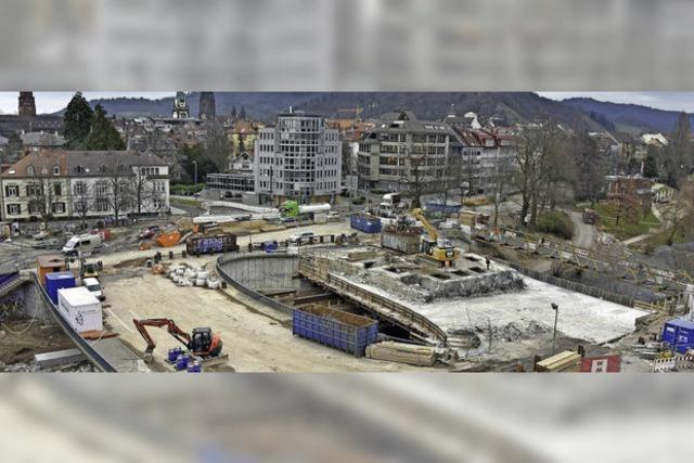 Baufortschritt an der Kronenbrücke