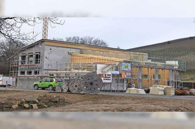 Fortschritte an dem neuen Gebäude