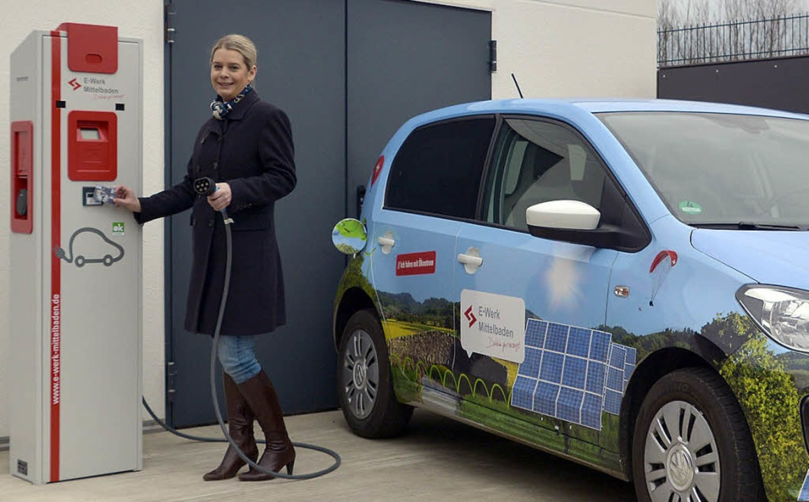 Eine der neuen Ladesäulen für Elektroautos   | Foto: E-Werk