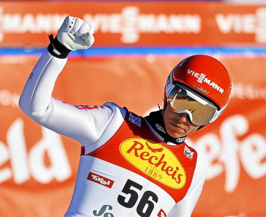 Eric Frenzel nach dem Skispringen  | Foto: AFP