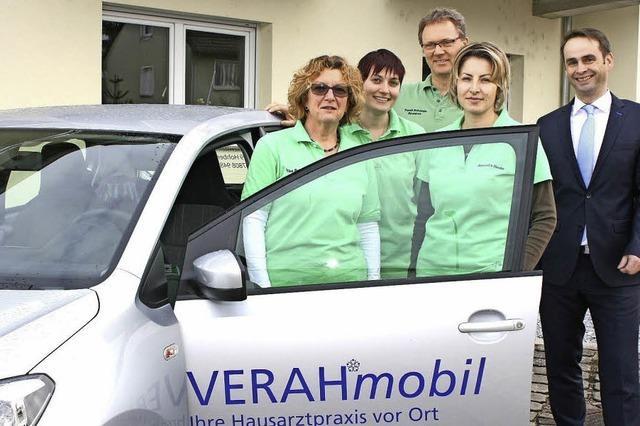 Mobil für Hausbesuche