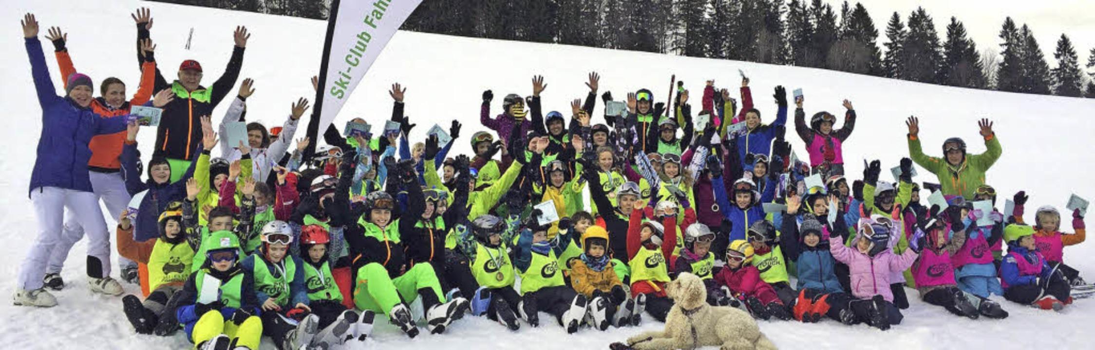 <BZ-FotoAnlauf>Ski-Club Fahrnau:</BZ-F...ß hatten die Teilnehmer der Skikurse.     Foto: privat
