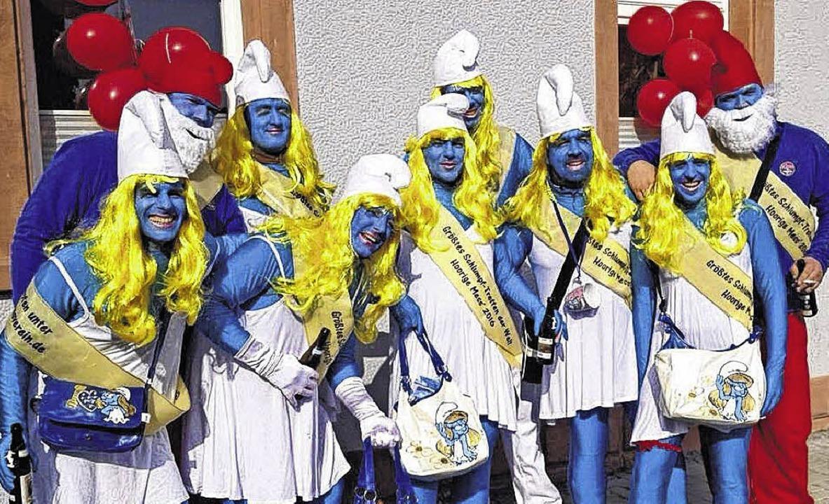 Schlümpfe am laufenden Band: Dä Tradit...ollen sich als Comicfigur verkleiden.     Foto: Dä Traditionsverein