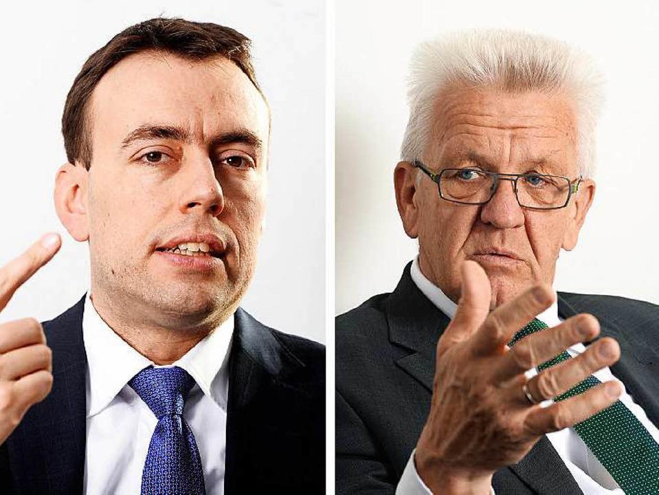 Nils Schmid und Winfried Kretschmann    Foto: dpa
