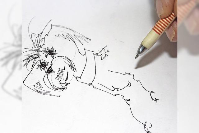 Rudi Bauer hat mehr als 1000 Karikaturen für die Narrenzeitung gezeichnet