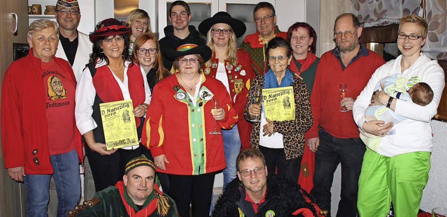 Neben den Vertretern der Todtmooser Zü...asmer und Mundartdichterin Erika  Buhr  | Foto: Andreas Böhm