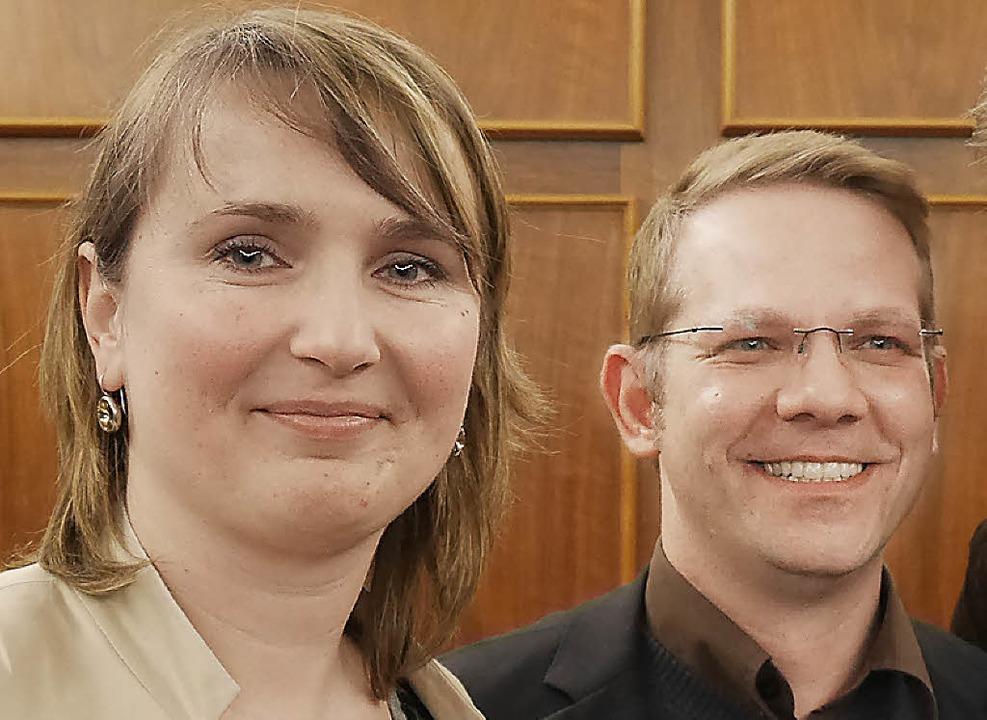 Messe-Geschäftsführer Natalia Golovina, Thomas Platzer.   | Foto: Trenz