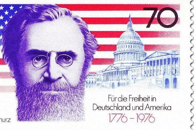 Erinnerungen an den deutschen Revolutionär Carl Schurz