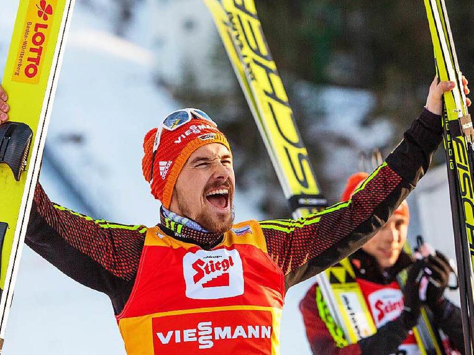 Fabian Rießle von der Skizunft Breitna...ich auch über den dritten Rang freuen.    Foto: dpa