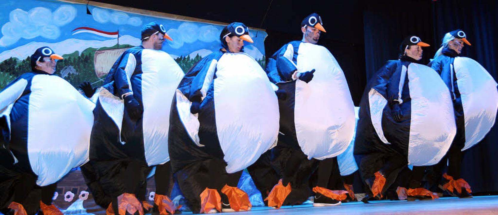 Die neue Spezis für Titisees Eisweiher tanzte vor.  | Foto: Eva Korinth