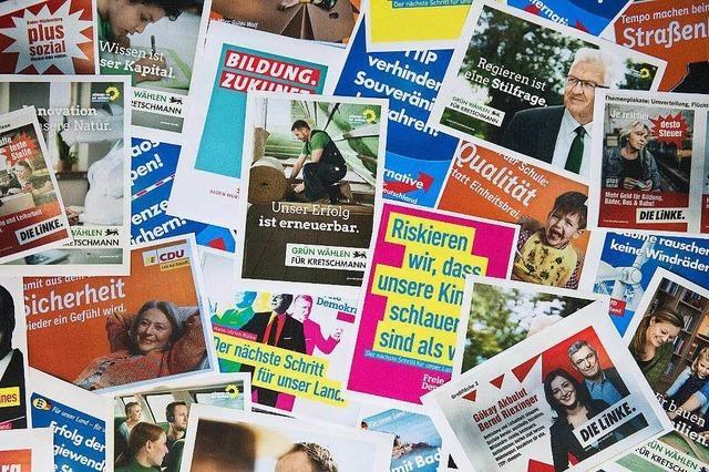 Parteien dürfen jetzt ihre Wahlplakate aufhängen