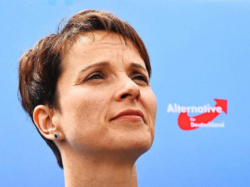 Frauke Petry, Bundesvorsitzende der Partei Alternative für Deutschland (AfD)    Foto: AFP