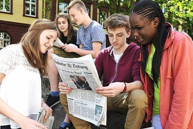 Bewertungsbogen und Fragen zur Zeitung