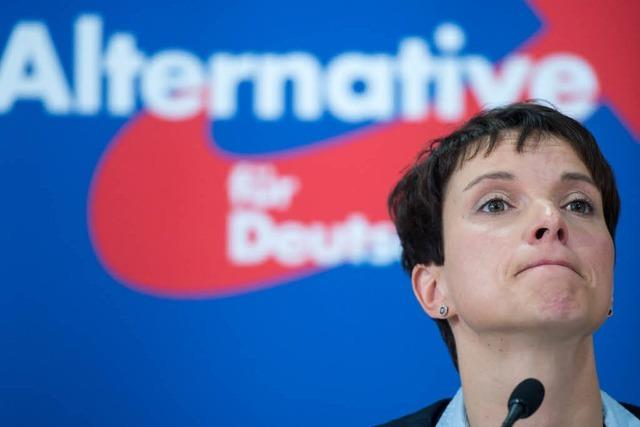 AfD-Kreisvorsitzender nennt Petry-Bemerkungen zum Waffeneinsatz