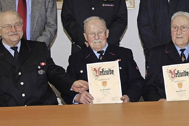 Viele Jahre im Dienst der Feuerwehr