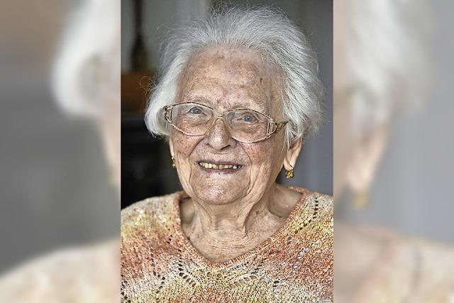 Elisabeth Trisch aus Freiburg wird heute 100 Jahre alt