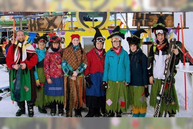 Wintersport als Hexe auf dem Feldberg