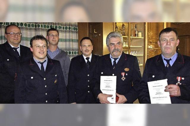 Ehrung für 40 Jahre aktiven Feuerwehrdienst