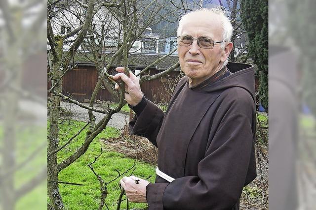 Der Garten des Kapuzinerklosters ist sein Reich
