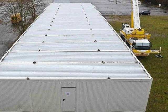 Innocel-Areal: Container-Anlage für 100 Flüchtlinge entsteht